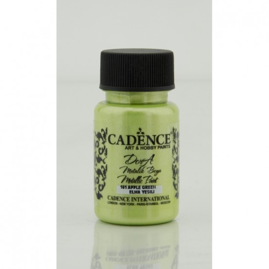 Dora Acrylic Metallic Paint - 50ml- Apple green