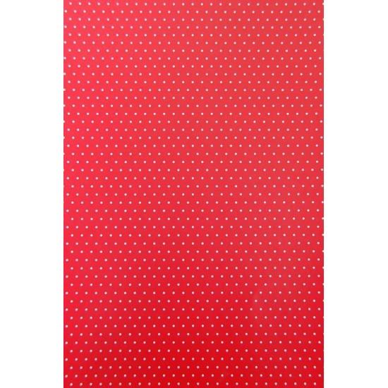 Xαρτόνι Α4, διπλής όψης 200γρ - Πουά Κόκκινο