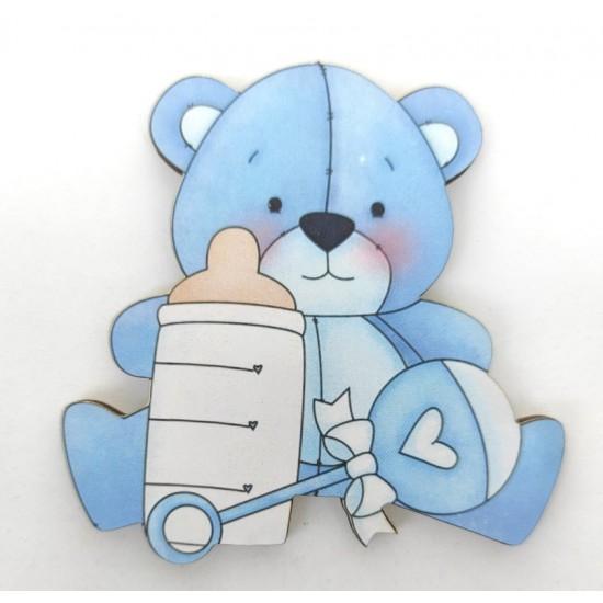 Αρκουδάκι #4 εκτύπωση σε ξύλο