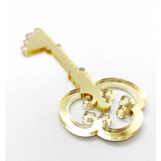 Plexiglass vintage κλειδί γούρι #2