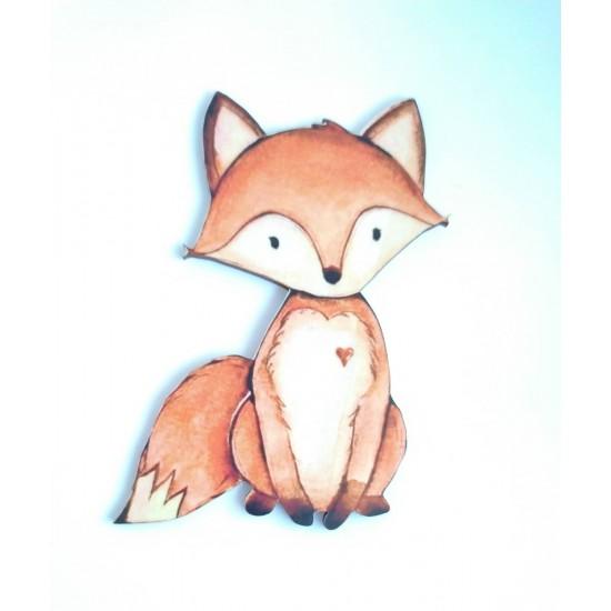 Αλεπού εκτύπωση σε ξύλο