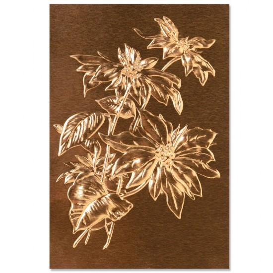 Sizzix 3-D Texture Fades Embossing Folder Poinsettia by Tim Holtz