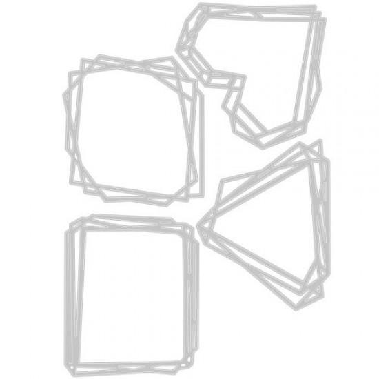 Sizzix Thinlits Die Set 4PK Geo Frames by Tim Holtz
