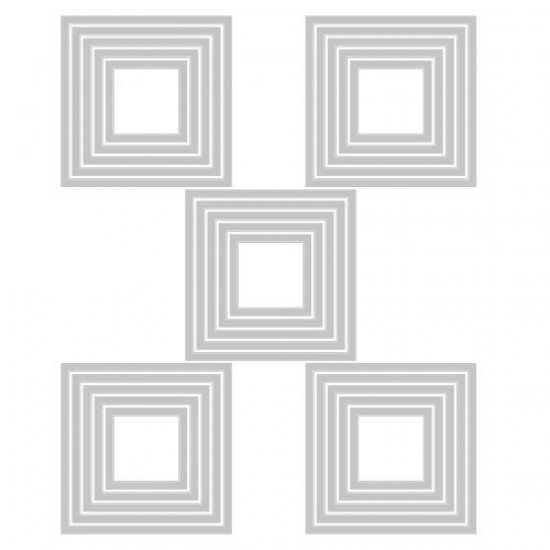 Sizzix Thinlits Die Set 25PK Stacked Tiles Squares by Tim Holtz