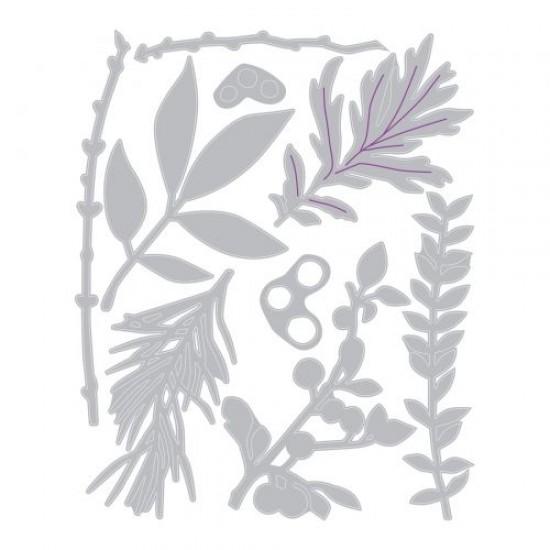 Sizzix Thinlits Die Set 9PK Hidden Leaves by Sophie Guilar