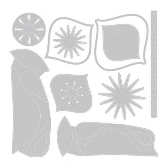 Sizzix Thinlits Die Set 10PK Ornamental Birds by Tim Holtz