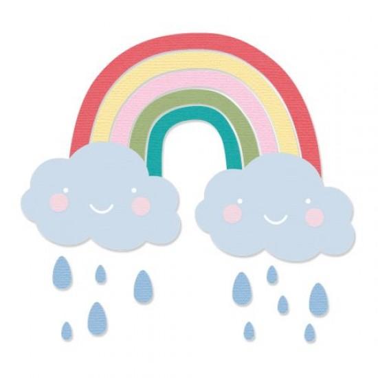 Sizzix Thinlits Die Set 6PK Rainbow