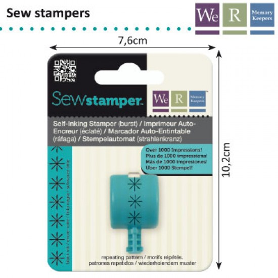 We R Memory Keepers sew stamper burst stitch head