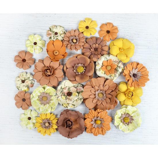 Χειροποίητα λουλούδια - Fall  24τεμ