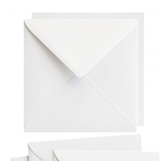 Φάκελος 15,5cmx15,5cm 25τεμ Laid white