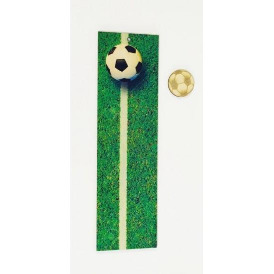 Ξύλινη θεματική βάση λαμπάδας Ποδόσφαιρο με έγχρωμη εκτύπωση σε ξύλο