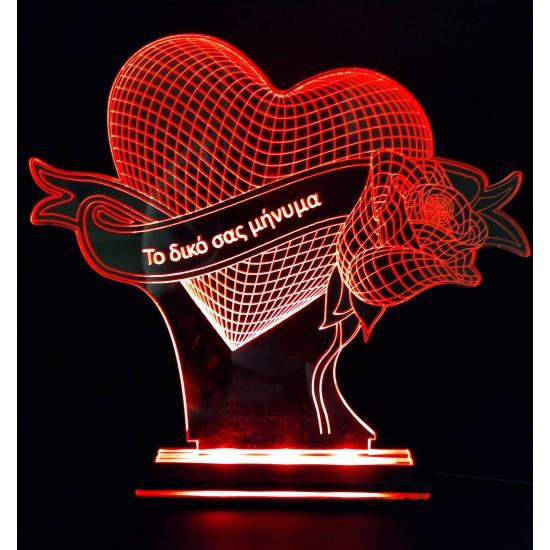 Διακοσμητικό Φωτιστικό Καρδιά #4