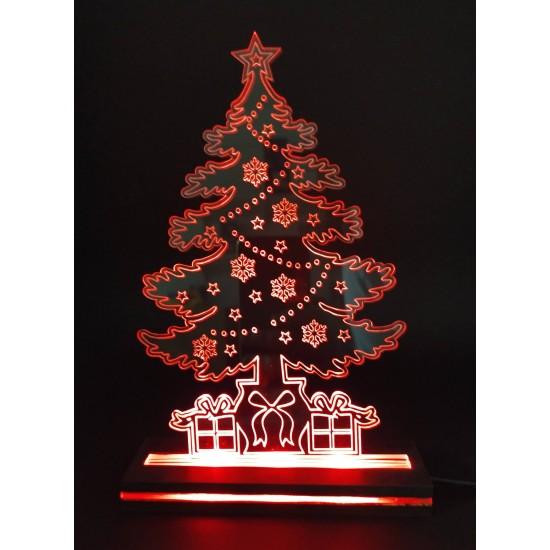 Διακοσμητικό Φωτιστικό Χριστουγεννιάτικο Δέντρο